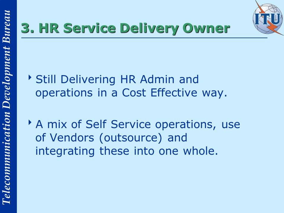 3. HR Service Delivery Owner