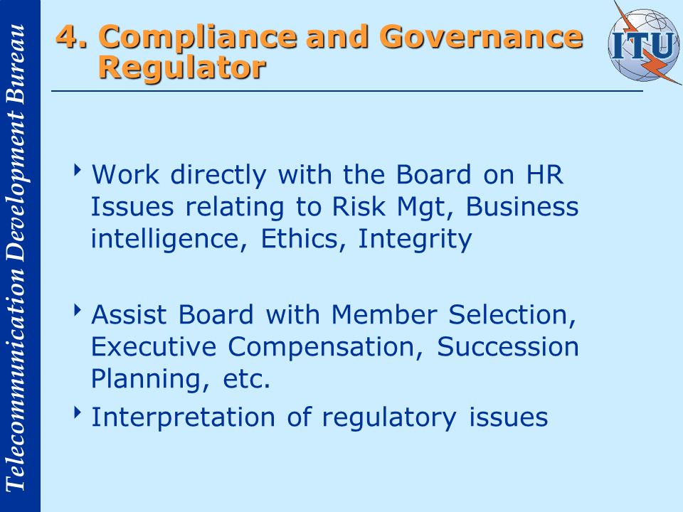 4. Compliance and Governance Regulator