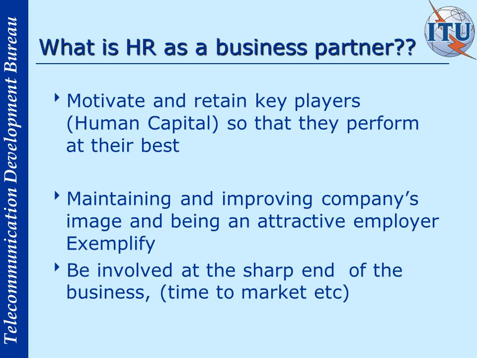 What is HR as a business partner