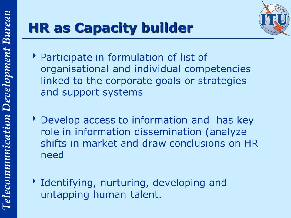 HR as Capacity builder