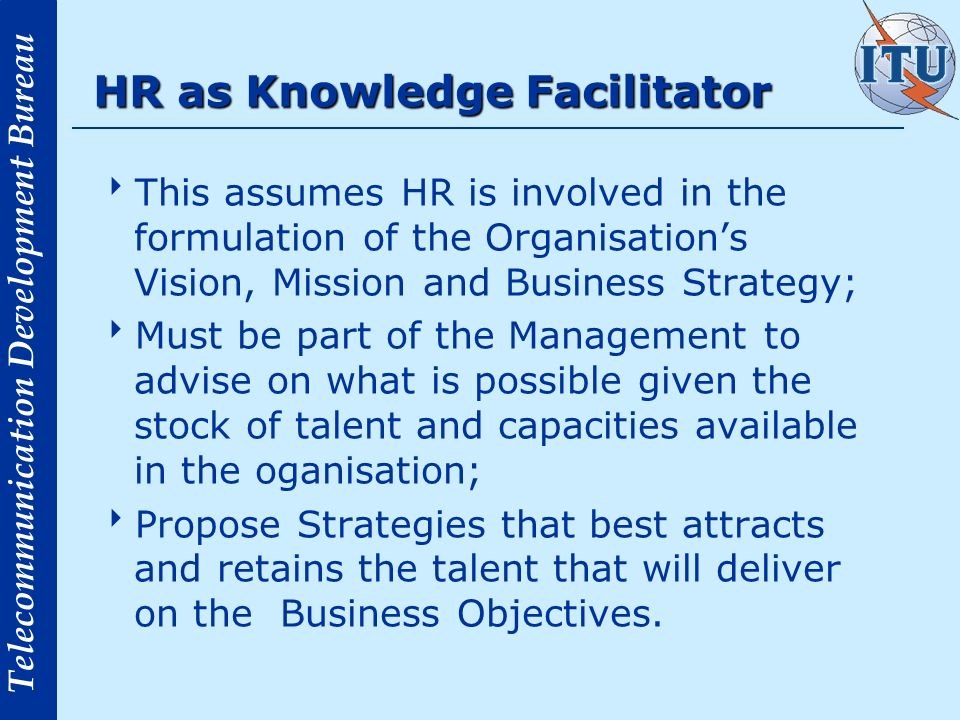 HR as Knowledge Facilitator