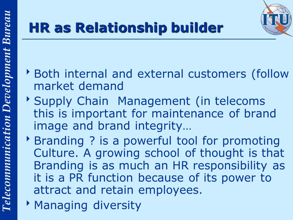 HR as Relationship builder