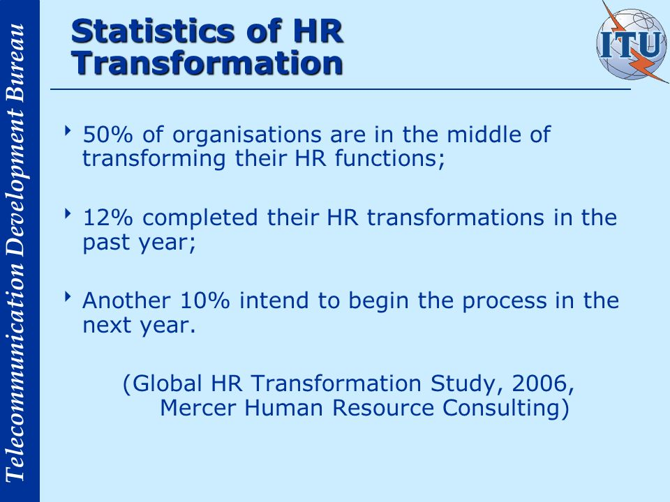 Statistics of HR Transformation