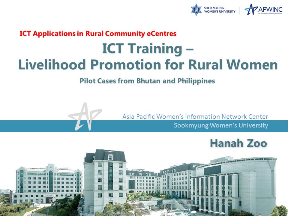 ICT Training – Livelihood Promotion for Rural Women