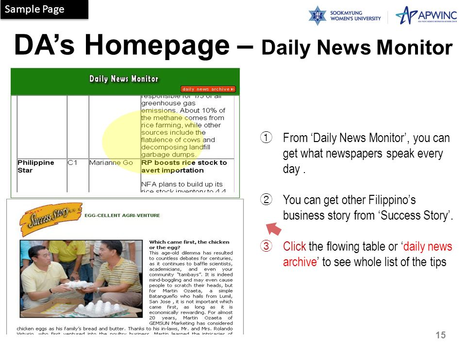 DA's Homepage – Daily News Monitor
