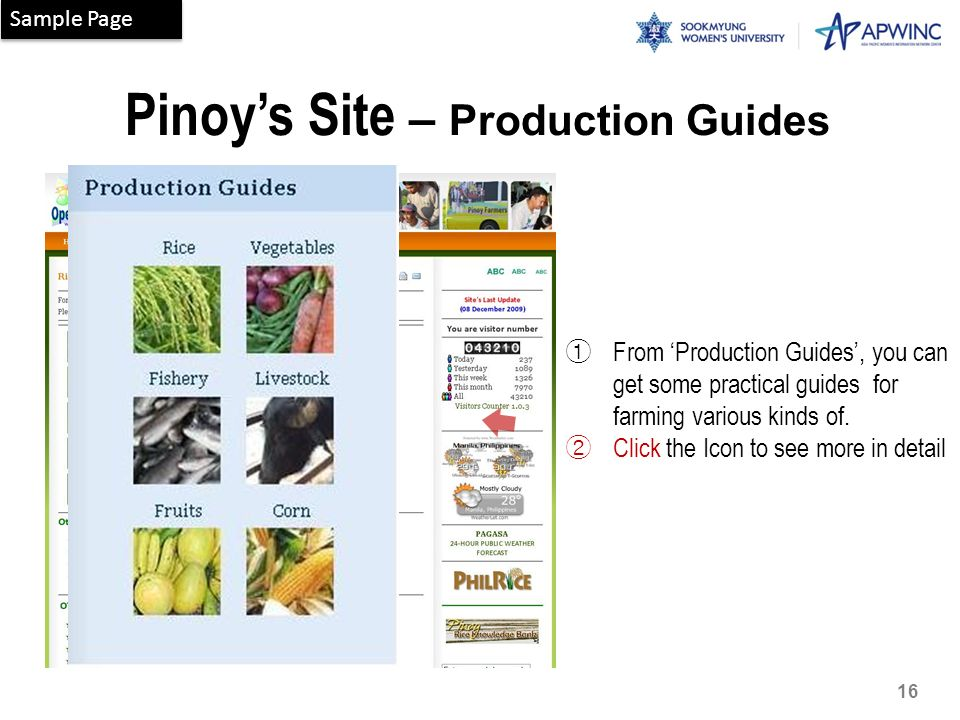Pinoy's Site – Production Guides