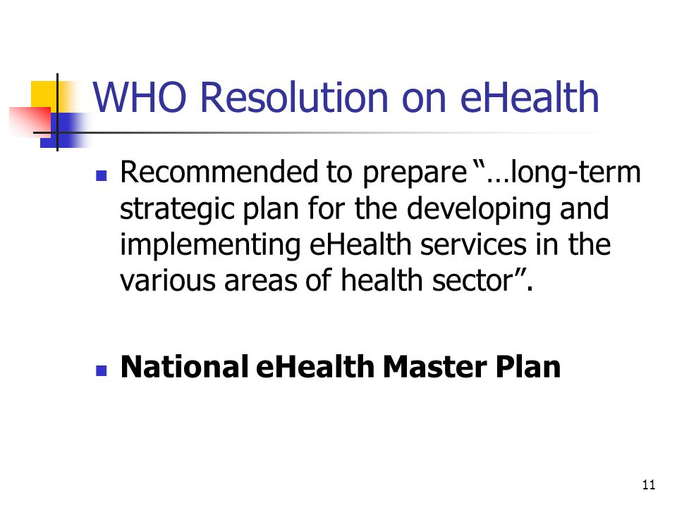 WHO Resolution on eHealth