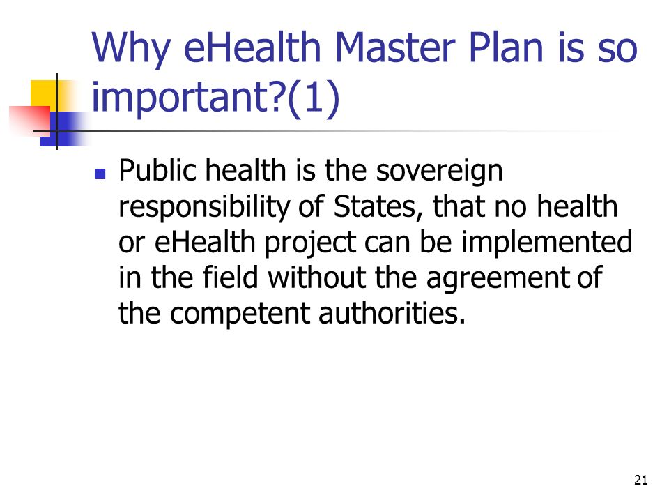 Why eHealth Master Plan is so important (1)