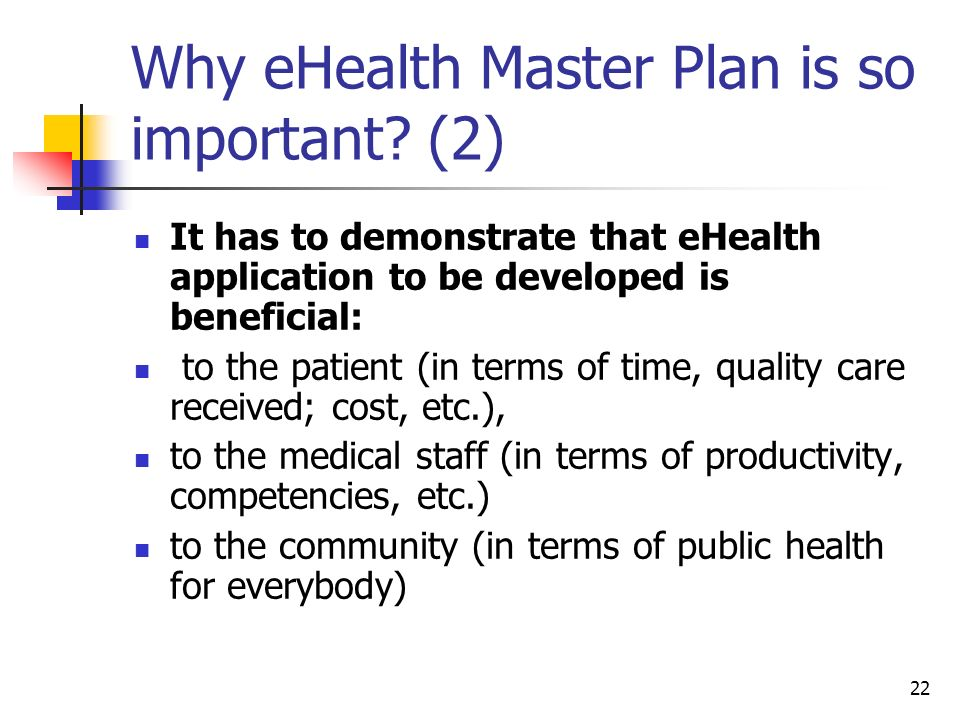 Why eHealth Master Plan is so important (2)