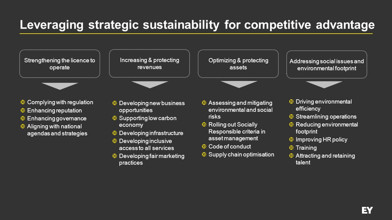 Leveraging strategic sustainability for competitive advantage