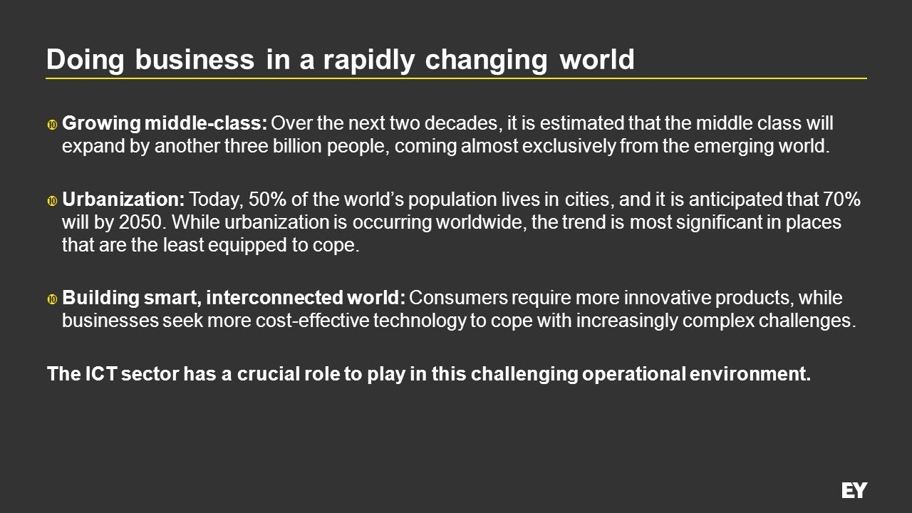 Doing business in a rapidly changing world