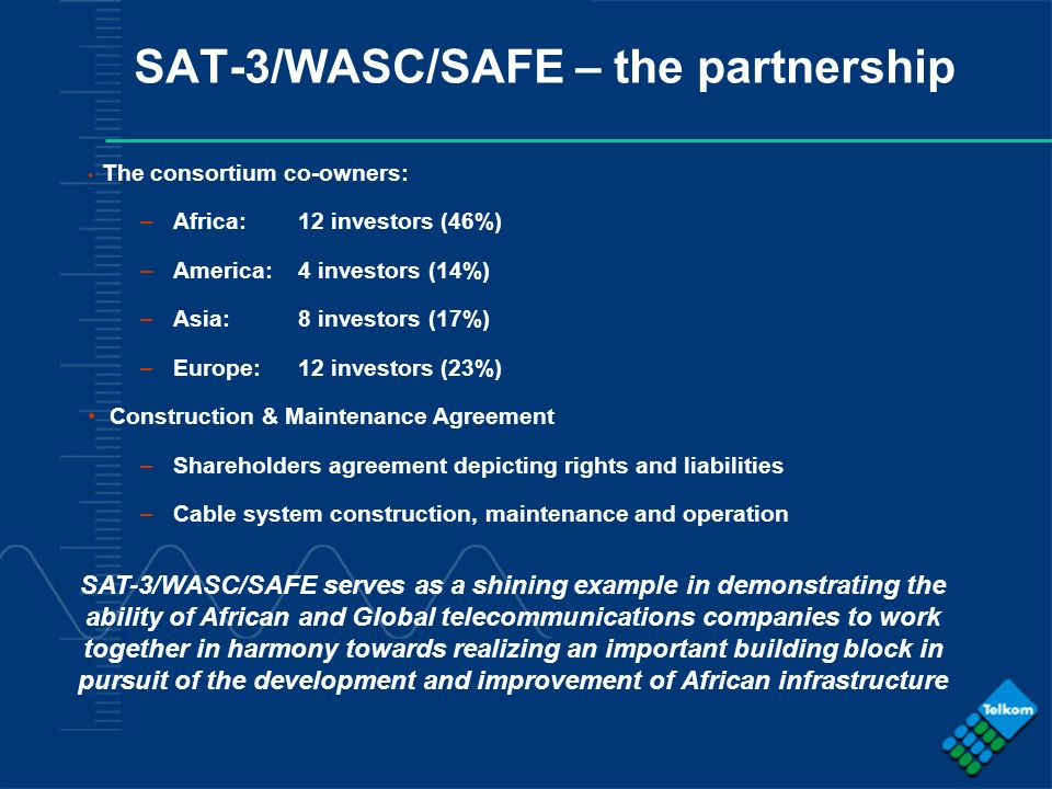 SAT-3/WASC/SAFE – the partnership