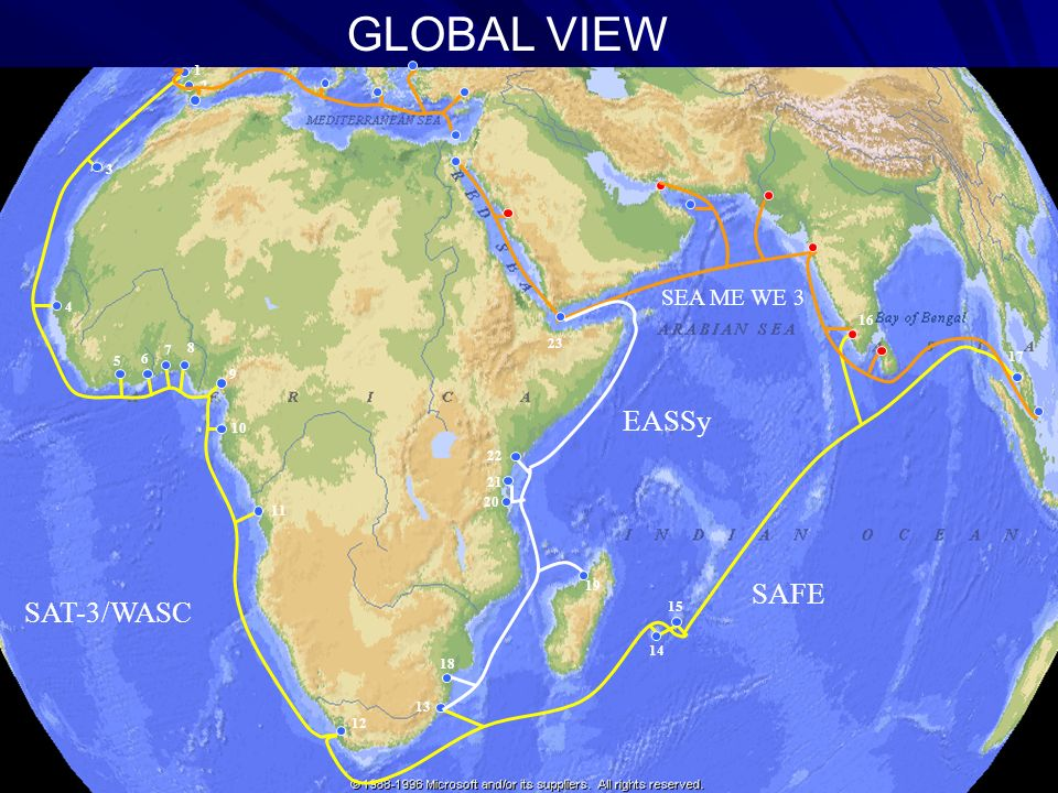GLOBAL VIEW EASSy SAFE SAT-3/WASC SEA ME WE