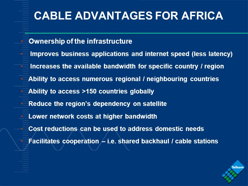 CABLE ADVANTAGES FOR AFRICA