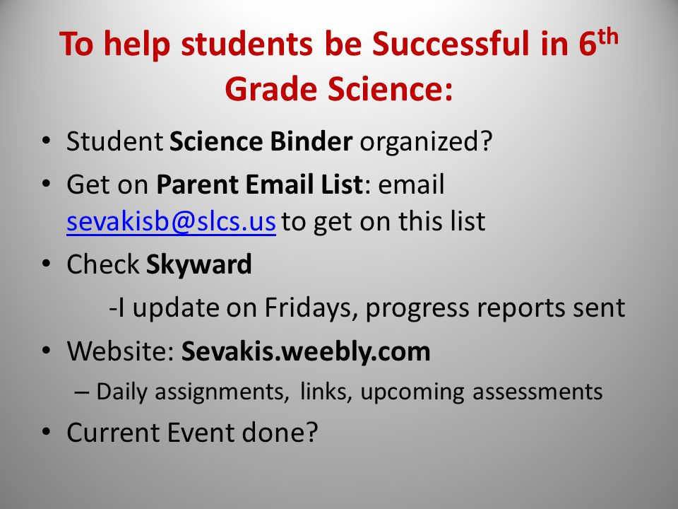 Mrs. Sevakis 6th Grade Science - ppt video online download