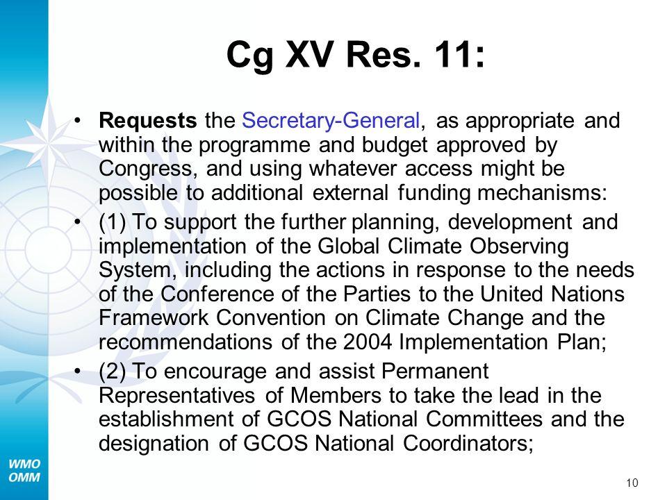 Cg XV Res. 11: