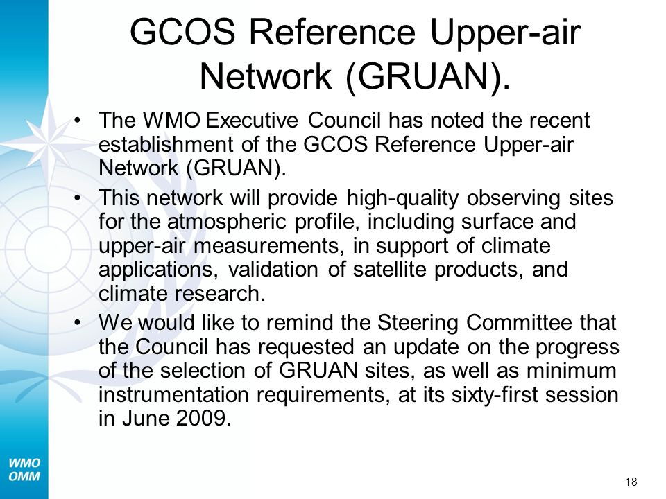 GCOS Reference Upper-air Network (GRUAN).