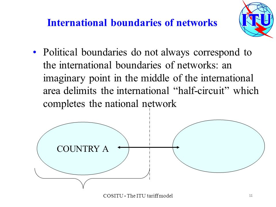 International boundaries of networks