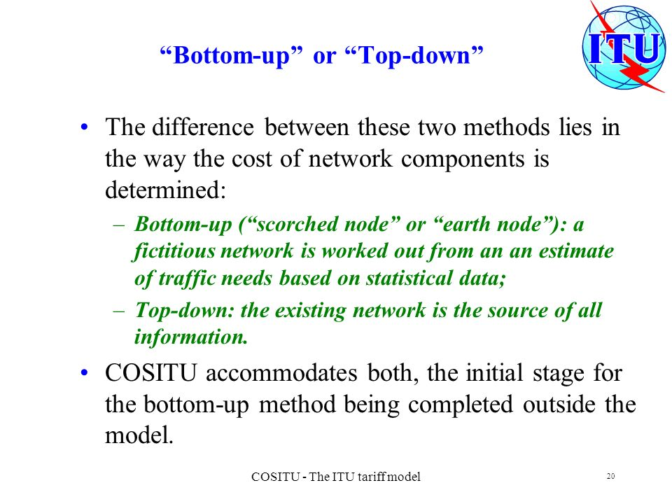 Bottom-up or Top-down