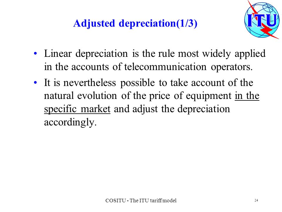 Adjusted depreciation(1/3)