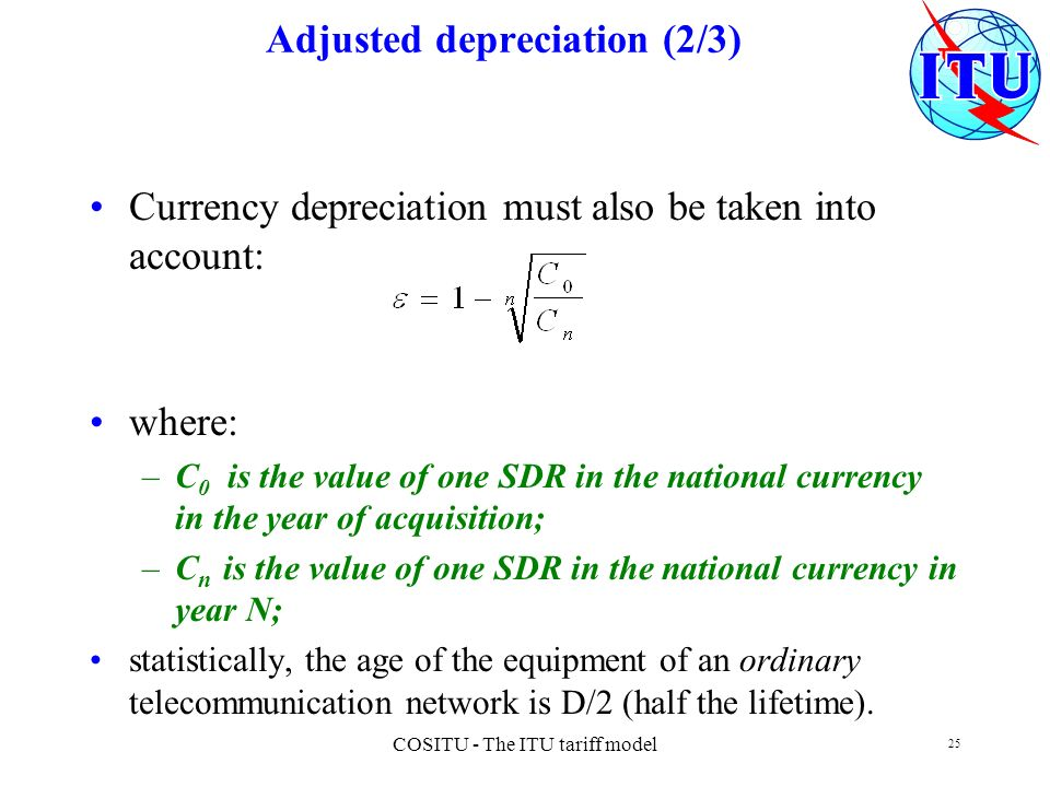 Adjusted depreciation (2/3)