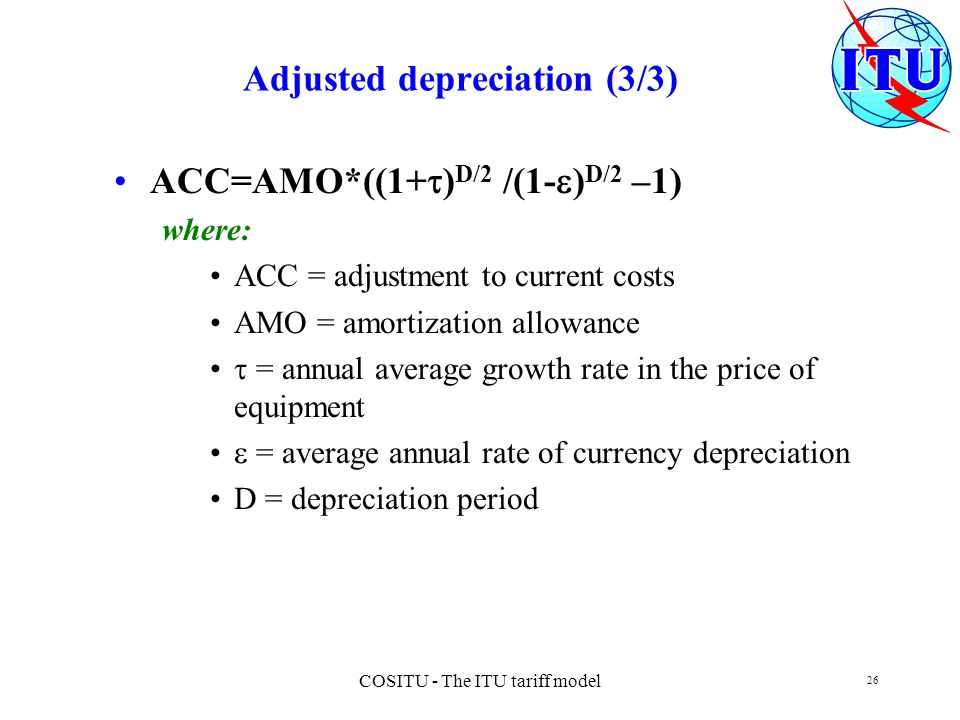 Adjusted depreciation (3/3)