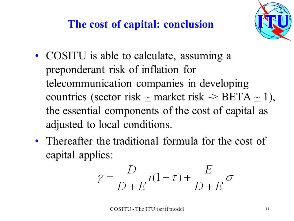 The cost of capital: conclusion