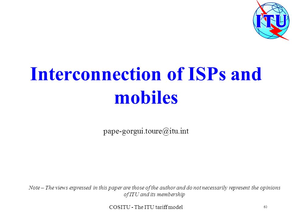 Interconnection of ISPs and mobiles