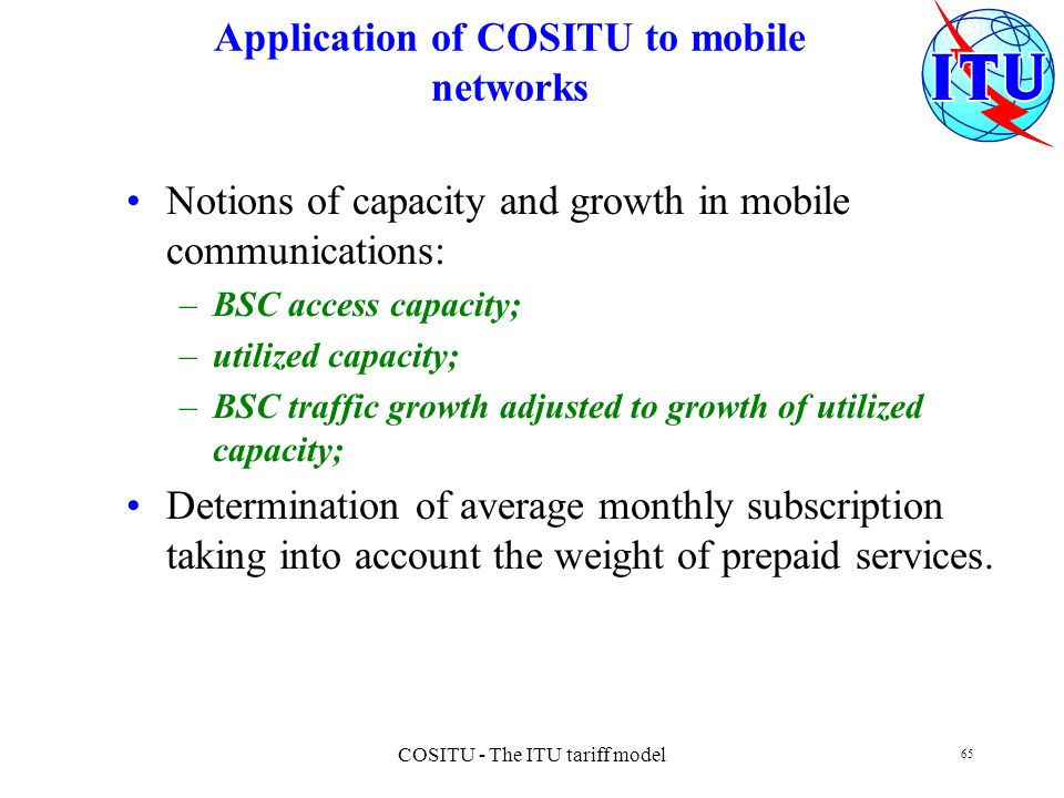 Application of COSITU to mobile networks