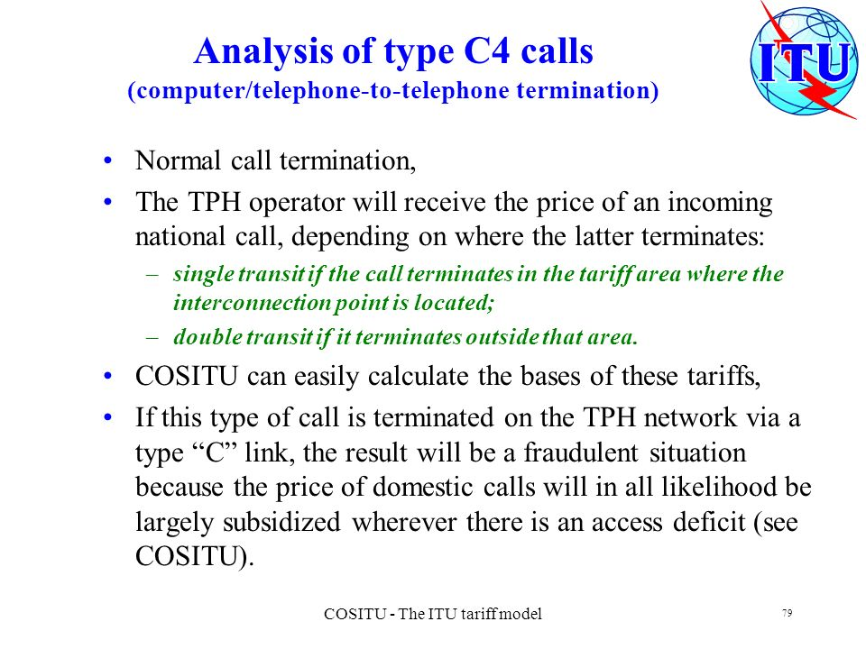 COSITU - The ITU tariff model