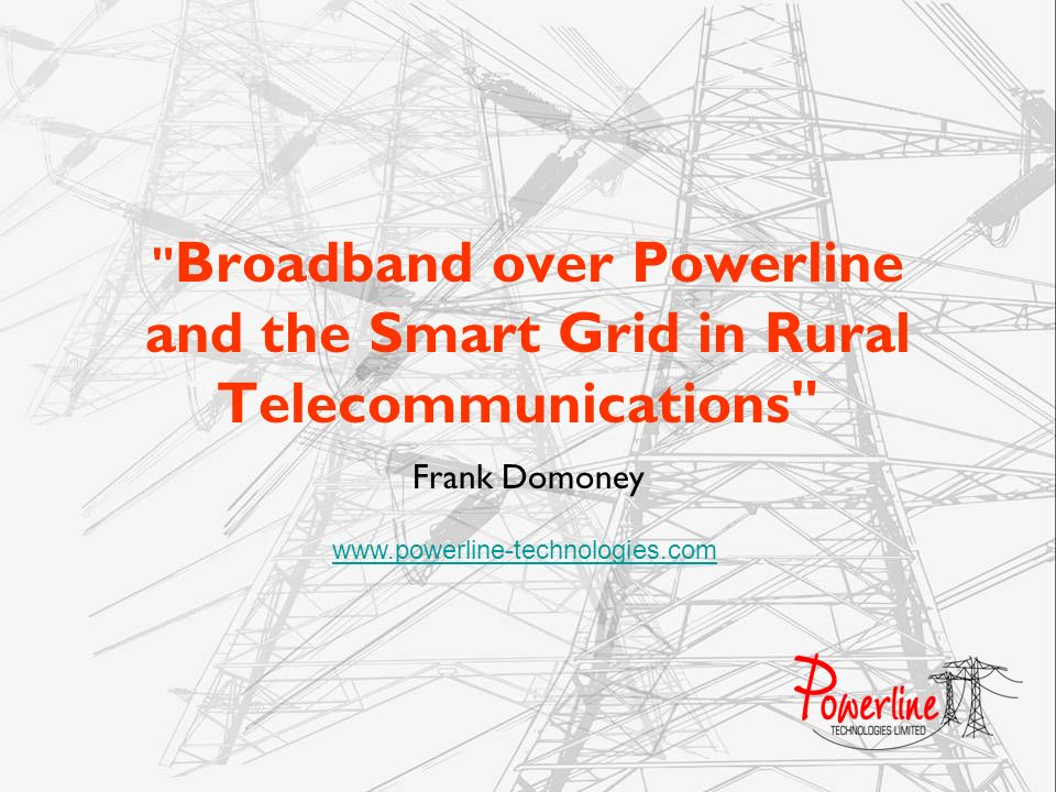 Broadband over Powerline and the Smart Grid in Rural Telecommunications