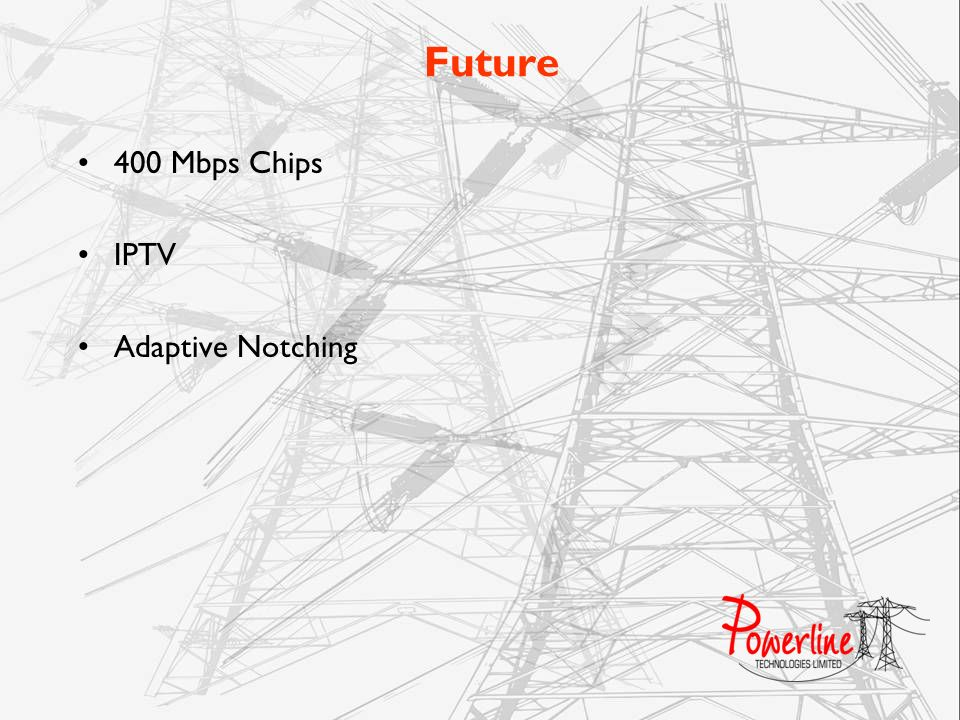 Future 400 Mbps Chips IPTV Adaptive Notching