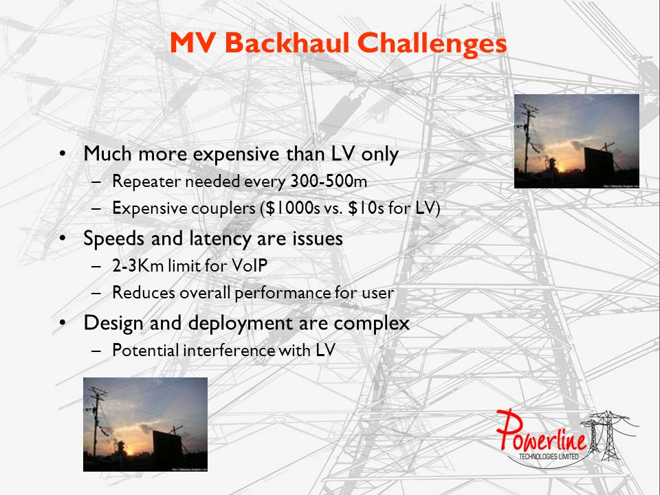 MV Backhaul Challenges