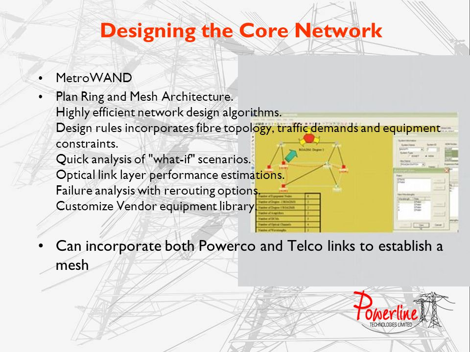 Designing the Core Network