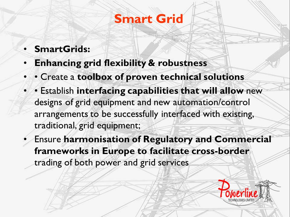 Smart Grid SmartGrids: Enhancing grid flexibility & robustness