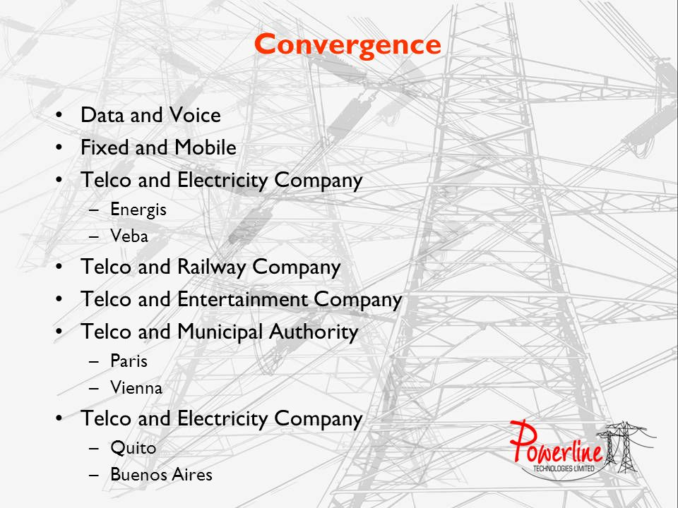 Convergence Data and Voice Fixed and Mobile