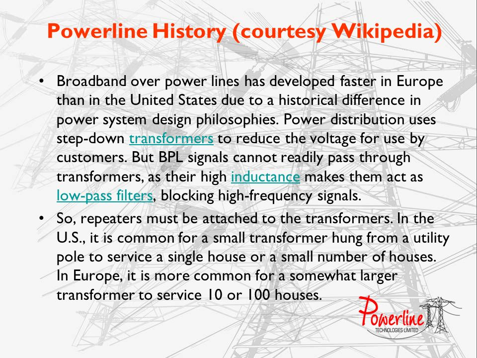 Powerline History (courtesy Wikipedia)