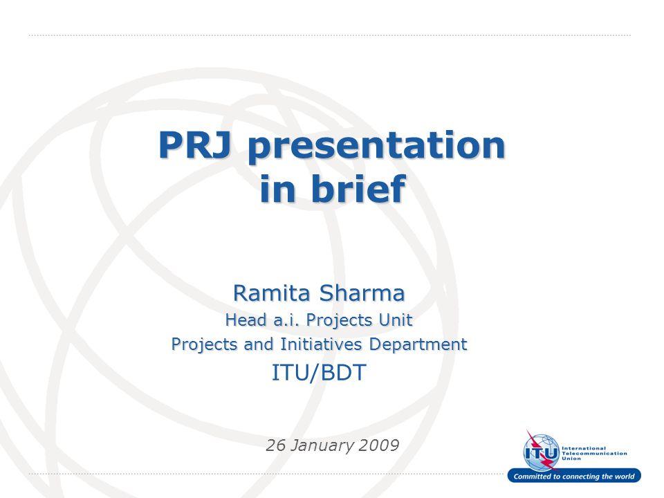 PRJ presentation in brief