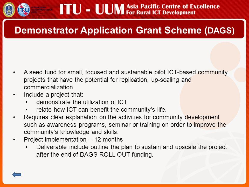 Demonstrator Application Grant Scheme (DAGS)