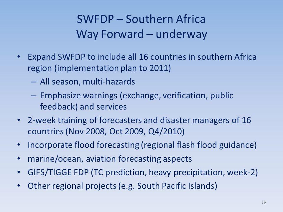 SWFDP – Southern Africa Way Forward – underway