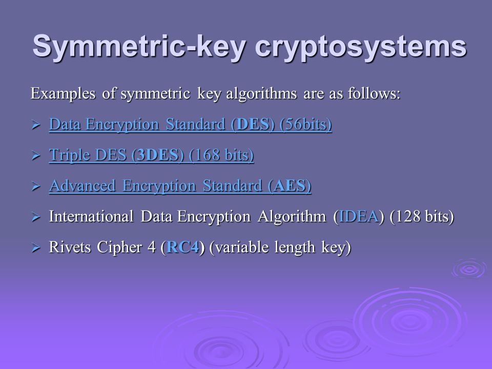 Symmetric-key cryptosystems