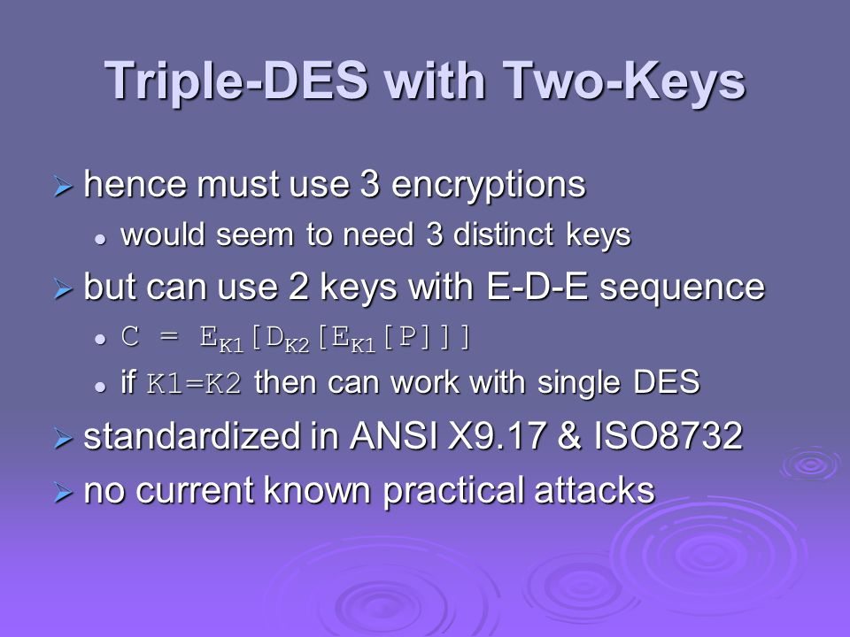 Triple-DES with Two-Keys