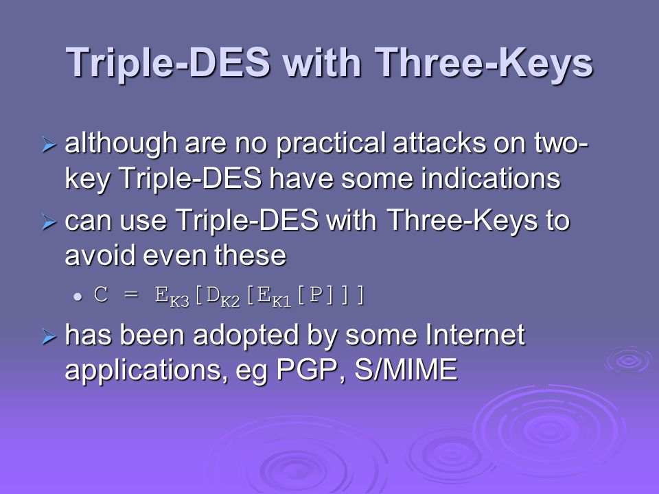 Triple-DES with Three-Keys