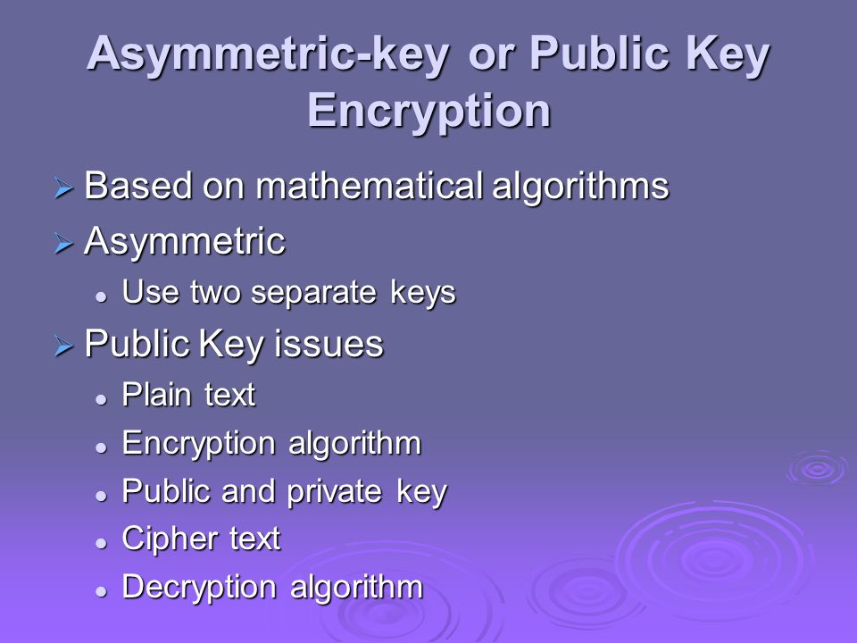 Asymmetric-key or Public Key Encryption
