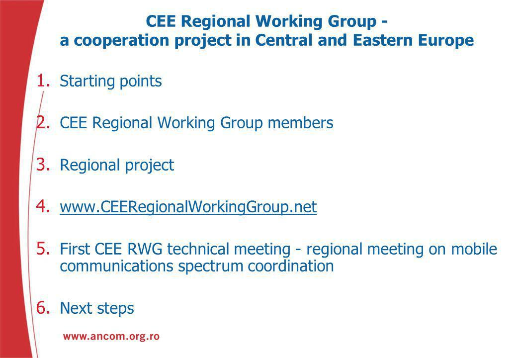 CEE Regional Working Group - a cooperation project in Central and Eastern Europe