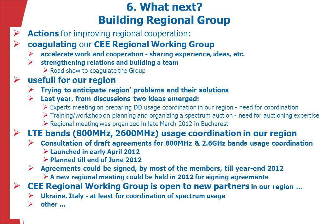 6. What next Building Regional Group