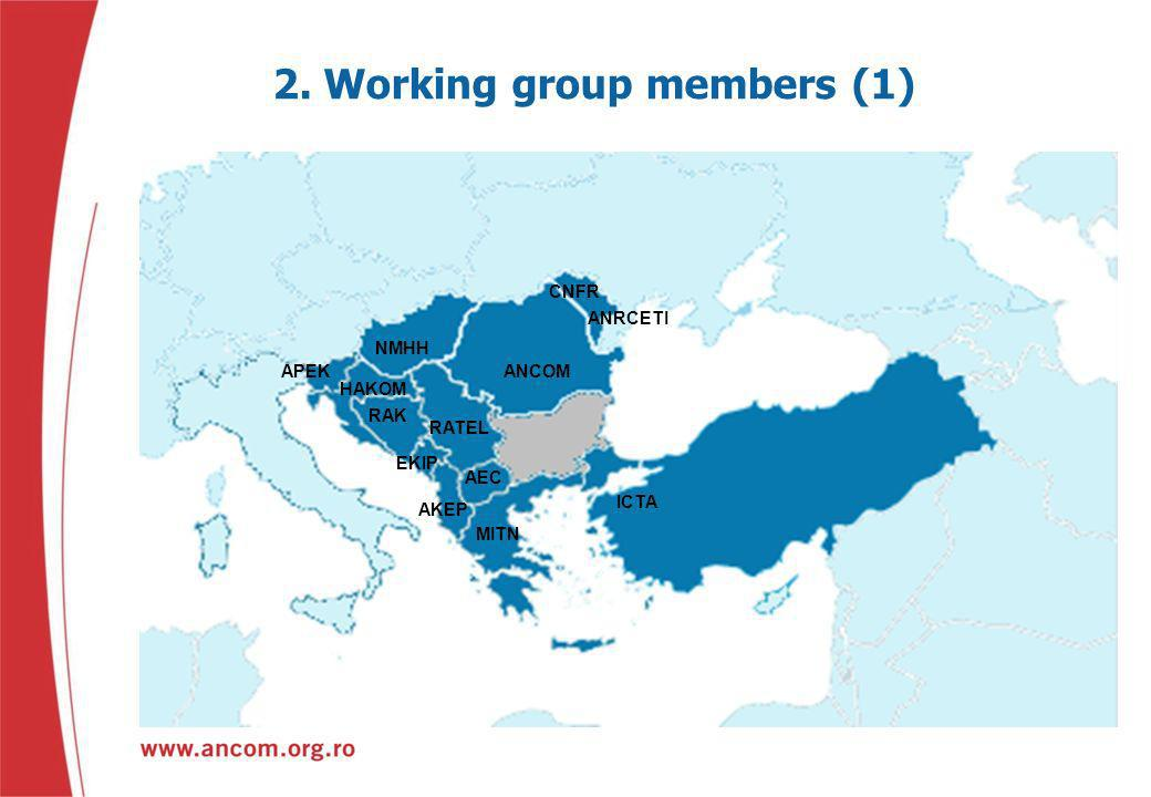 2. Working group members (1)