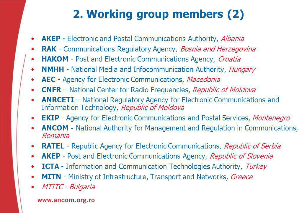 2. Working group members (2)