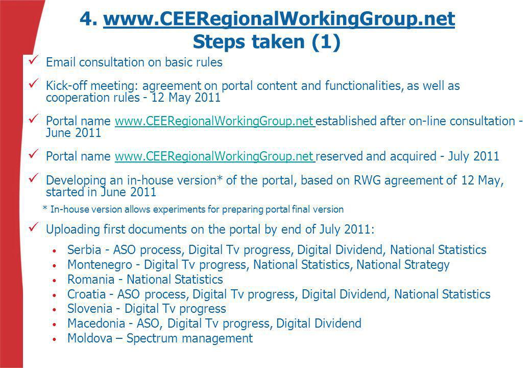 4. www.CEERegionalWorkingGroup.net Steps taken (1)