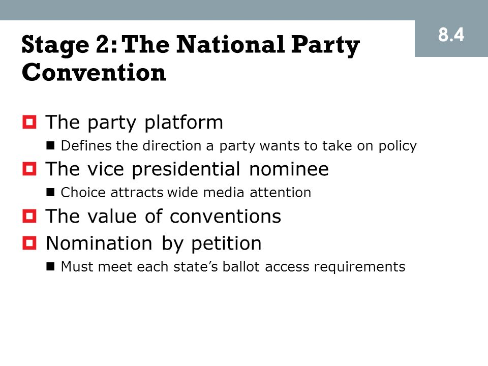 Stage 2: The National Party Convention